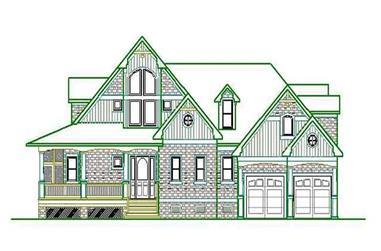 3-Bedroom, 2662 Sq Ft Home Plan - 130-1041 - Main Exterior