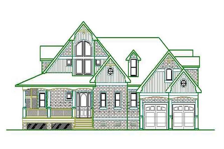 3-Bedroom, 2662 Sq Ft Home Plan - 130-1041 - Main Exterior