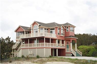 5-Bedroom, 2652 Sq Ft Coastal Home Plan - 130-1042 - Main Exterior