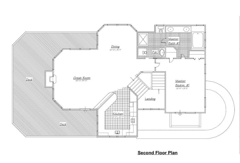 130-1045: Floor Plan Upper Level