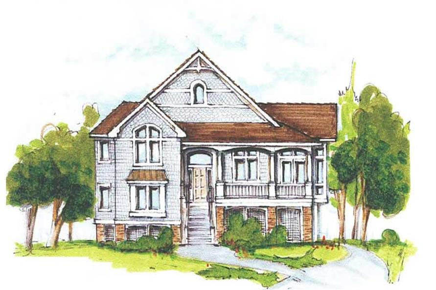 5-Bedroom, 2446 Sq Ft Coastal Home Plan - 130-1046 - Main Exterior