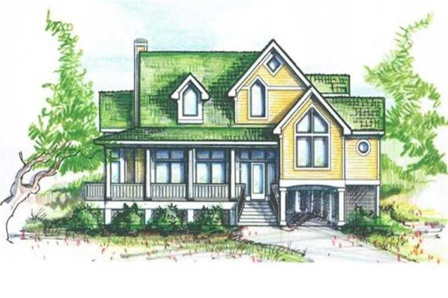 4-Bedroom, 2434 Sq Ft Coastal Home Plan - 130-1048 - Main Exterior