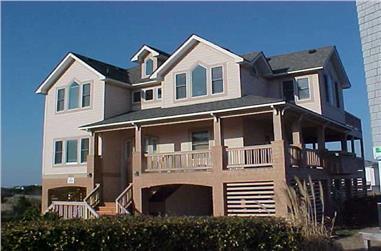 5-Bedroom, 2424 Sq Ft Coastal Home Plan - 130-1049 - Main Exterior