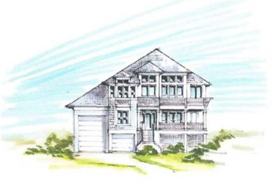 Home Plan Front Elevation of this 4-Bedroom,2405 Sq Ft Plan -130-1050