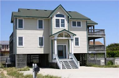 5-Bedroom, 2051 Sq Ft Coastal House Plan - 130-1051 - Front Exterior