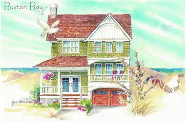 5-Bedroom, 2379 Sq Ft Coastal Home Plan - 130-1058 - Main Exterior