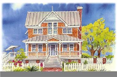 3-Bedroom, 2585 Sq Ft Coastal Home Plan - 130-1059 - Main Exterior