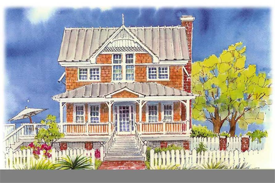 3-Bedroom, 2585 Sq Ft Coastal Home Plan - 130-1059 - Main Exterior