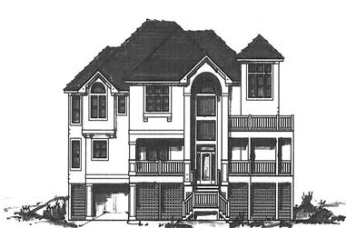 6-Bedroom, 4297 Sq Ft Coastal Home Plan - 130-1060 - Main Exterior