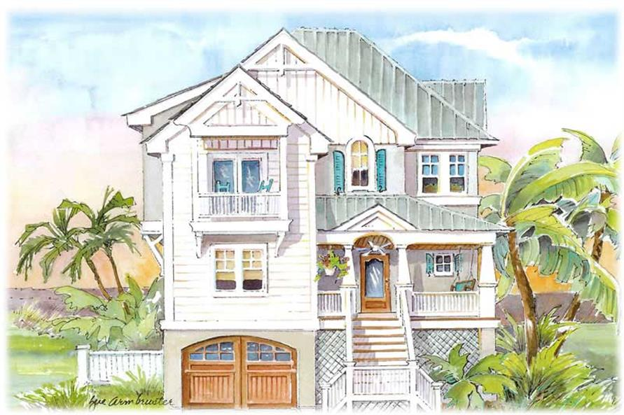 5-Bedroom, 3140 Sq Ft Coastal Home Plan - 130-1066 - Main Exterior
