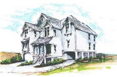 5-Bedroom, 2682 Sq Ft Coastal Home Plan - 130-1067 - Main Exterior