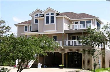 4-Bedroom, 2497 Sq Ft Coastal Home Plan - 130-1068 - Main Exterior