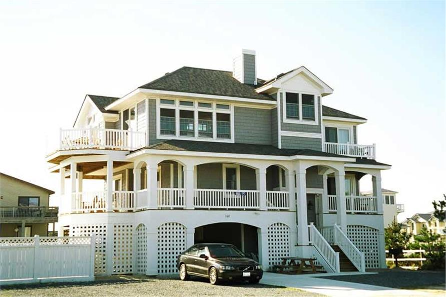 Beachfront, California Style, Coastal House Plans - Home Plan 130-1070
