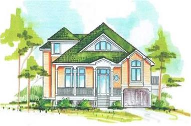 5-Bedroom, 3423 Sq Ft Coastal House Plan - 130-1071 - Front Exterior