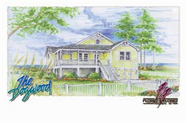 2-Bedroom, 1306 Sq Ft Coastal Home Plan - 130-1076 - Main Exterior
