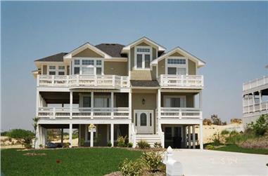 5-Bedroom, 2284 Sq Ft Coastal Home Plan - 130-1079 - Main Exterior