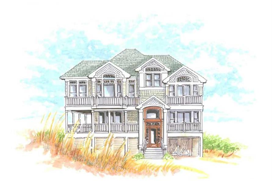 Home Plan Front Elevation of this 5-Bedroom,2284 Sq Ft Plan -130-1079