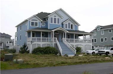 6-Bedroom, 3919 Sq Ft Coastal Home Plan - 130-1081 - Main Exterior