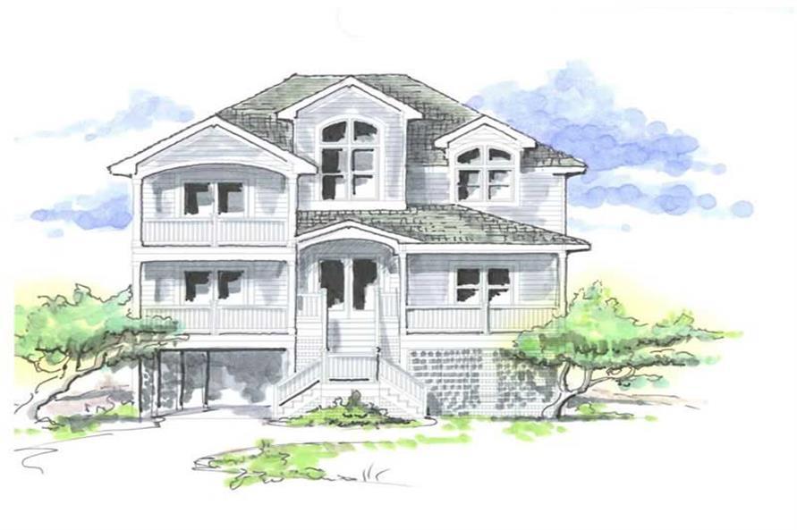 6-Bedroom, 4081 Sq Ft Coastal Home Plan - 130-1086 - Main Exterior