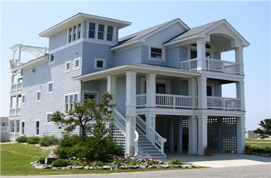 6-Bedroom, 3068 Sq Ft Beachfront Home Plan - 130-1093 - Main Exterior