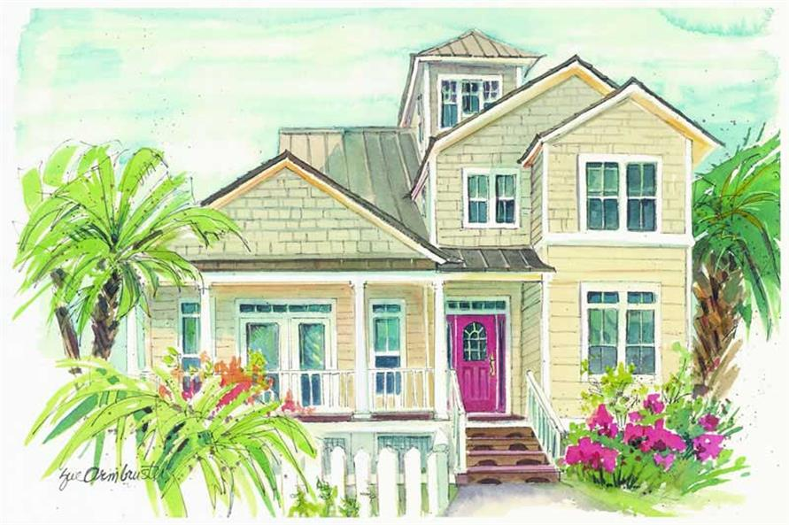 3-Bedroom, 2359 Sq Ft Coastal Home Plan - 130-1094 - Main Exterior