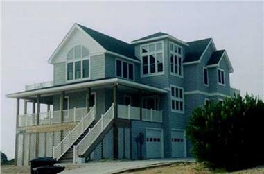 6-Bedroom, 3022 Sq Ft Coastal Home Plan - 130-1099 - Main Exterior