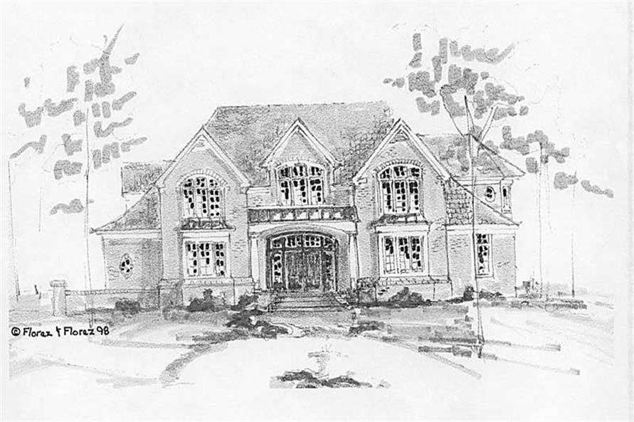4-Bedroom, 4368 Sq Ft Colonial House Plan - 130-1100 - Front Exterior