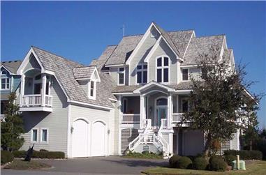 3-Bedroom, 3692 Sq Ft Coastal Home Plan - 130-1102 - Main Exterior