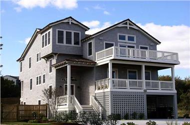 6-Bedroom, 3197 Sq Ft Coastal Home Plan - 130-1103 - Main Exterior