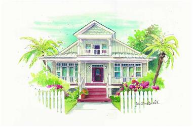 3-Bedroom, 2072 Sq Ft Coastal House Plan - 130-1104 - Front Exterior