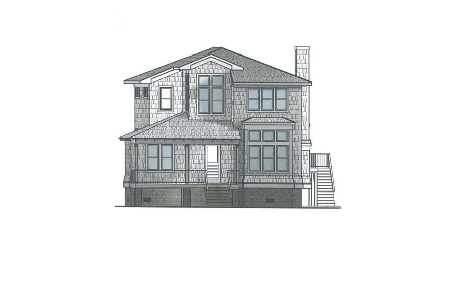 4-Bedroom, 2615 Sq Ft Coastal Home Plan - 130-1105 - Main Exterior