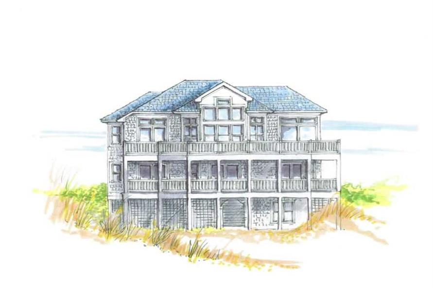 5-Bedroom, 2518 Sq Ft Coastal Home Plan - 130-1109 - Main Exterior