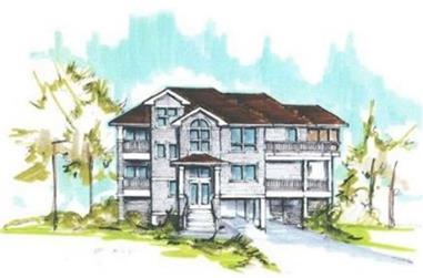 5-Bedroom, 2770 Sq Ft Coastal House Plan - 130-1110 - Front Exterior