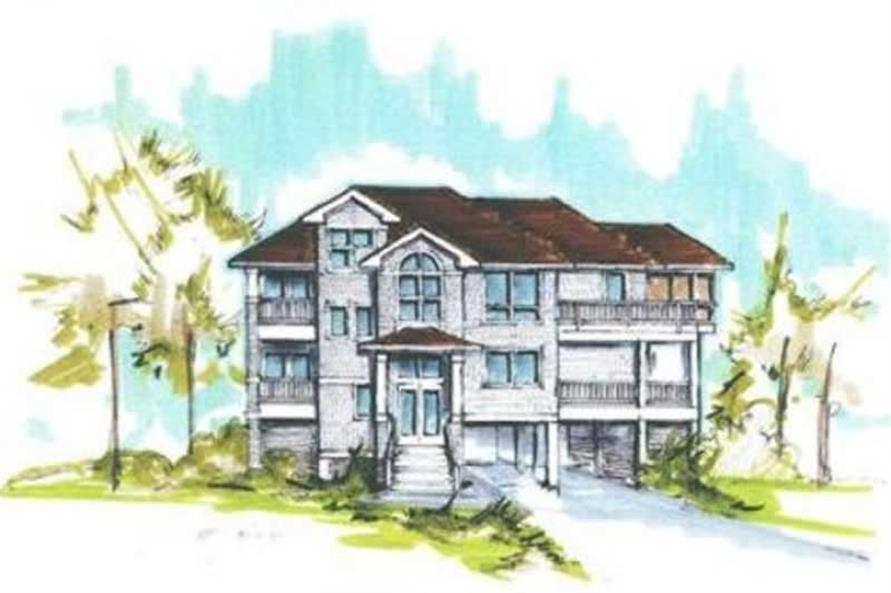 5-Bedroom, 2770 Sq Ft Coastal House Plan - 130-1110 - Front Exterior