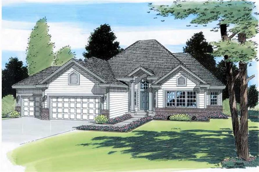 Main image for house plan # 20023