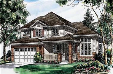 4-Bedroom, 2411 Sq Ft Ranch Home Plan - 131-1009 - Main Exterior