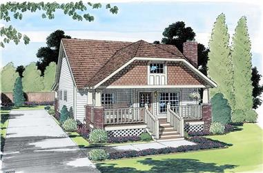 3-Bedroom, 964 Sq Ft Bungalow Home Plan - 131-1012 - Main Exterior