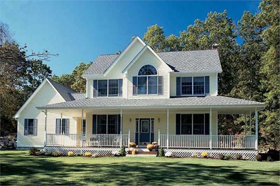 3-Bedroom, 2083 Sq Ft Country Home Plan - 131-1013 - Main Exterior