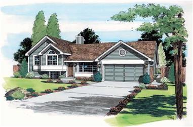 3-Bedroom, 984 Sq Ft Contemporary House Plan - 131-1014 - Front Exterior