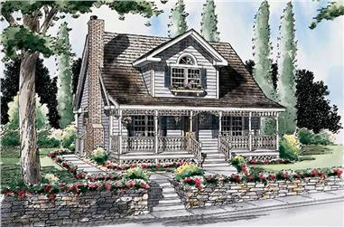 3-Bedroom, 1470 Sq Ft Country House Plan - 131-1016 - Front Exterior