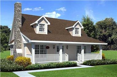 3-Bedroom, 1415 Sq Ft Cape Cod Plan - 131-1017 - Main Exterior