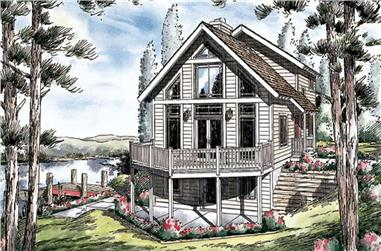 3-Bedroom, 1855 Sq Ft Contemporary Home Plan - 131-1021 - Main Exterior