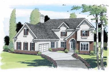 4-Bedroom, 2878 Sq Ft Traditional House Plan - 131-1025 - Front Exterior