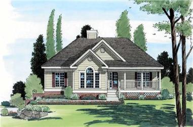 3-Bedroom, 1821 Sq Ft Country Home Plan - 131-1028 - Main Exterior