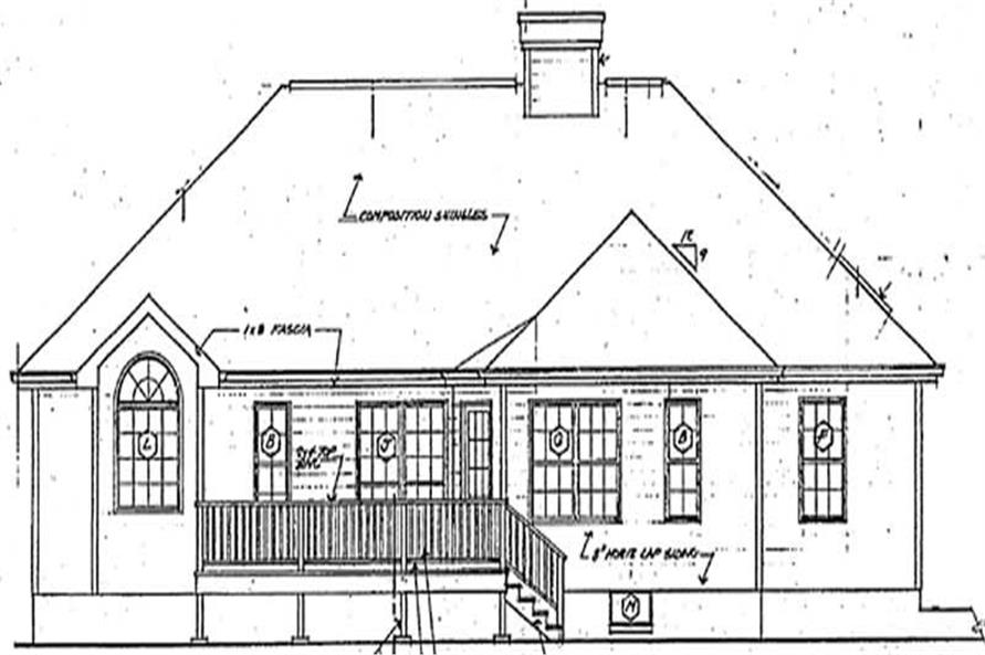 Home Plan Rear Elevation of this 3-Bedroom,1821 Sq Ft Plan -131-1028