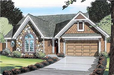 3-Bedroom, 1674 Sq Ft Small House Plans - 131-1035 - Front Exterior