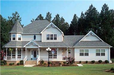 3-Bedroom, 2281 Sq Ft Victorian Home Plan - 131-1039 - Main Exterior