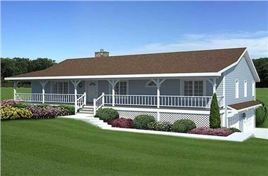 3-Bedroom, 1792 Sq Ft Country House Plan - 131-1040 - Front Exterior