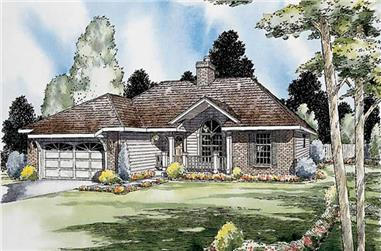 3-Bedroom, 1568 Sq Ft Contemporary House Plan - 131-1042 - Front Exterior