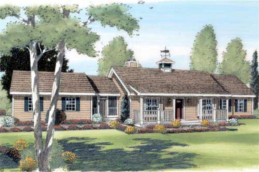 3-Bedroom, 1576 Sq Ft Ranch Home Plan - 131-1043 - Main Exterior